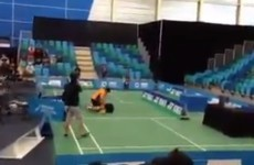 Thai badminton player attacks his former team-mate on court