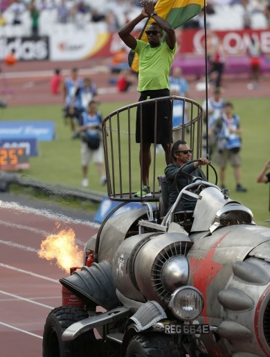 It's Your Usain Bolt Riding A Rocket Picture Of The Day