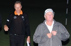 Drama in the dark as Senior Open play-off halted