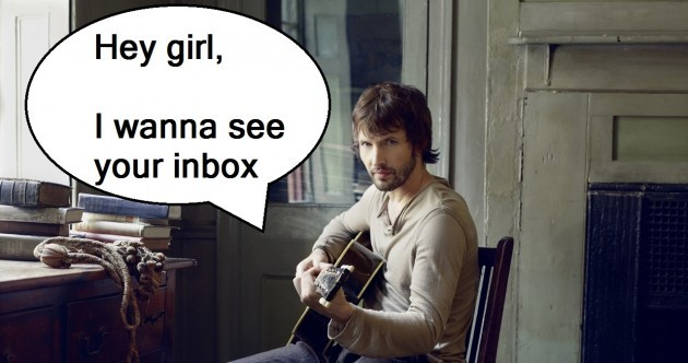 The Dredge: Did you get an email from James Blunt yesterday?