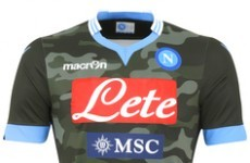 Check out Napoli's new military-style camouflage kit
