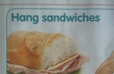 Centra are selling actual 'hang sangwidges'