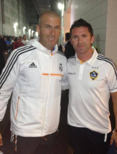 Your Zinedine Zidane with Robbie 'unidentified fan' Keane pic of the day