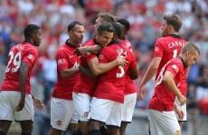 Van Persie brace hands United victory in the Community Shield