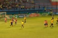 Ecuadorian footballer tries to bite opponent's nose