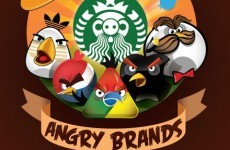 Famous logos reimagined as Angry Birds
