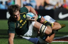 Narrow win for unimpressive South Africa in Rugby Championship