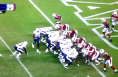 This is the luckiest touchdown you'll see all week