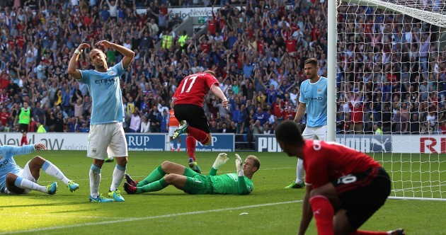 Hart errors help Cardiff cancel out brilliant Dzeko strike
