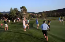 Million dollar hole-in-one captured in suitably shaky phone footage