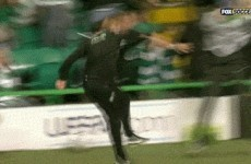 Enjoy Neil Lennon's Champions League celebration with this epic gif