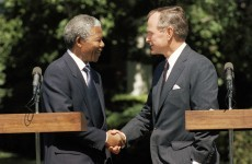 George H.W. Bush spokesman apologises in Mandela 'death' gaffe