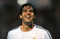 Kaká returns to Milan on a free transfer