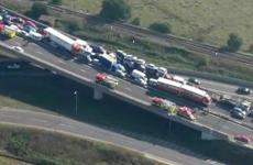 Eight seriously injured in 100 vehicle UK motorway pile-up