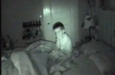 Adorable kid scared by camera is really not sleepy