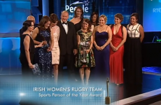 Irish women's rugby team honoured at People of the Year awards