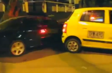 How NOT to deal with a taxi blocking your way