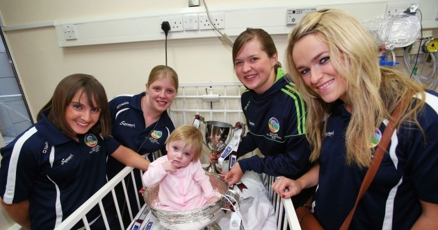 Galway's All-Ireland camogie champions drop by Our Lady's Hospital