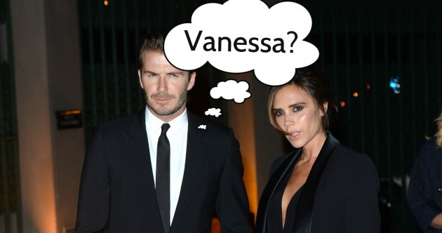 Is David Beckham afraid he'll forget his wife's name?... Find out in The Dredge