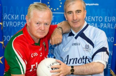 Here's your 'Mayo v Dublin MEP Gaelic football battle' pic of the day
