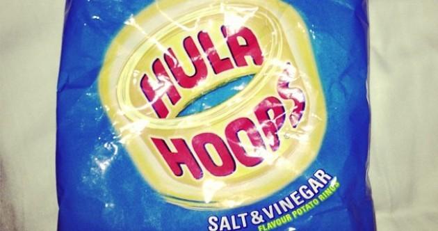 Lindsay Lohan likes Hula Hoops! She's just like us!