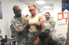 Girl gets tasered, accidentally grabs a handful