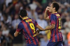 Neymar scores first league goal as Barca keep up perfect start