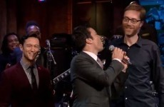 Watch Jimmy Fallon in a lip sync-off with Joseph Gordon Levitt and Stephen Merchant