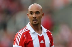 Stephen Ireland scored on his full Stoke debut with Noel King watching in the stands