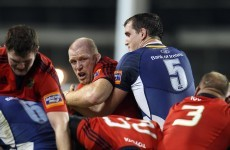 You're up against Paul O'Connell, that's always in the back of your head -- Devin Toner