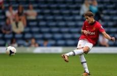 Manchester United's Adnan Januzaj scores a 25-yard belter