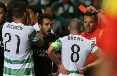VIDEO: Celtic captain Scott Brown sent off for this kick at Neymar