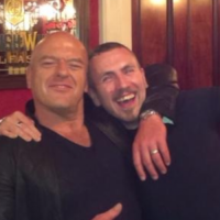 Hank's for the party... Breaking Bad's Dean Norris was out for pints in Dublin last night