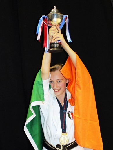 Meet the 14-year-old Irish girl who's now a world champion in karate
