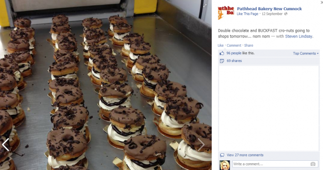 Bakery investigated after selling Buckfast cronuts