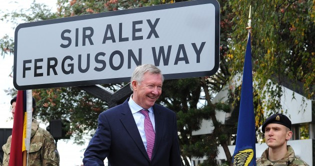 Fergie remains confident over United future, gets his own street sign