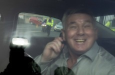 VIDEO: John Gilligan speeds away from Portlaoise Prison