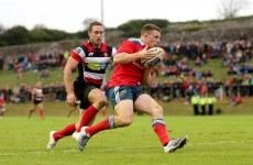 Andrew Conway has to settle for Munster A spot