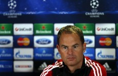 Ajax coach De Boer wary of Samaras threat
