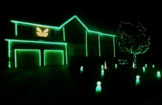 Amazing Halloween light display is perfectly synced to Blurred Lines