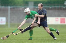 Shane O'Neill, Richie Hogan and Brendan Maher in Irish shinty squad
