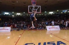WATCH: Lil' fella wows judges to win NCAA Slam Dunk contest