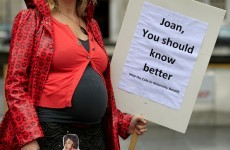 PICS: Pregnant mothers protest against maternity benefit cut outside Dáil