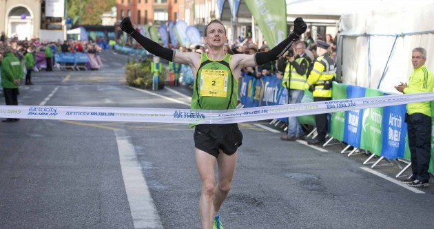 Irish winners of both the men's and women's Dublin City Marathon