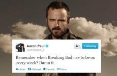 Aaron Paul is really missing Breaking Bad