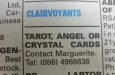 Interesting entry in the 'Clairvoyants' section of Tipp newspaper