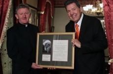 Irish priest follows Dalai Lama in being honoured for peace work
