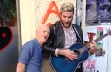 Jimmy Somerville joins Bronski Beat busker for impromptu street duet