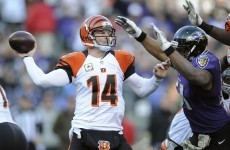 Andy Dalton needed not one, but two, helping hands with this Hail Mary last night