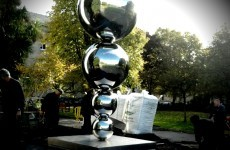 Trinity College's new sculpture is being compared to a giant sex toy (NSFW)